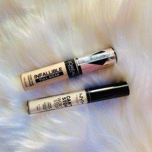 NYX and L'Oréal Concealers!